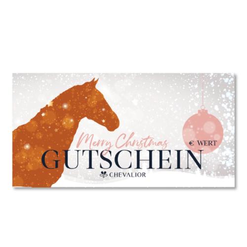 Gutschein Schabracke Abschwitzdecke Reitsportgeschäft Merry Christmas